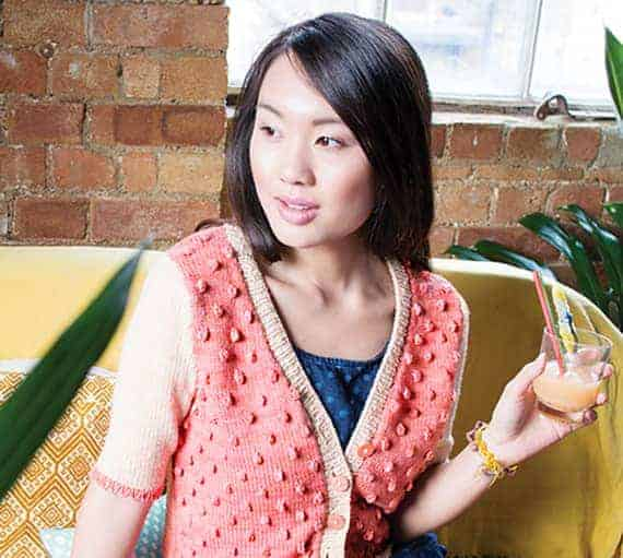 Creamsicle by Sarah Hurwitz was knit with Kettle Yarn Co. Wimbledon. Photo © Juju Vail