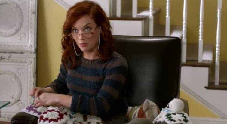 "A scene from the recent ""knitting"" circle episode of ABC's Suburgatory."