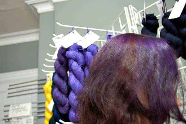 Some people's hair matched the yarn.
