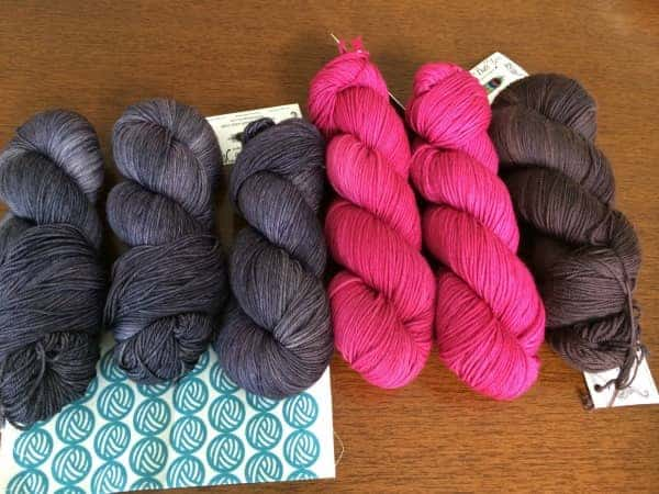 Of course, we documented our hauls. Mine included Tesseract in Tulpa, Spectra DK in Debutante and Spectra fingering in Victoria Mansion.