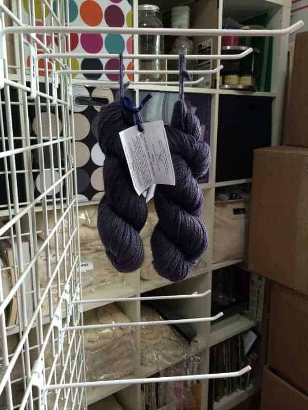 This was the rack that held Ridgely's Spectra DK base. I'm pretty sure those two remaining skeins are not Spectra DK.