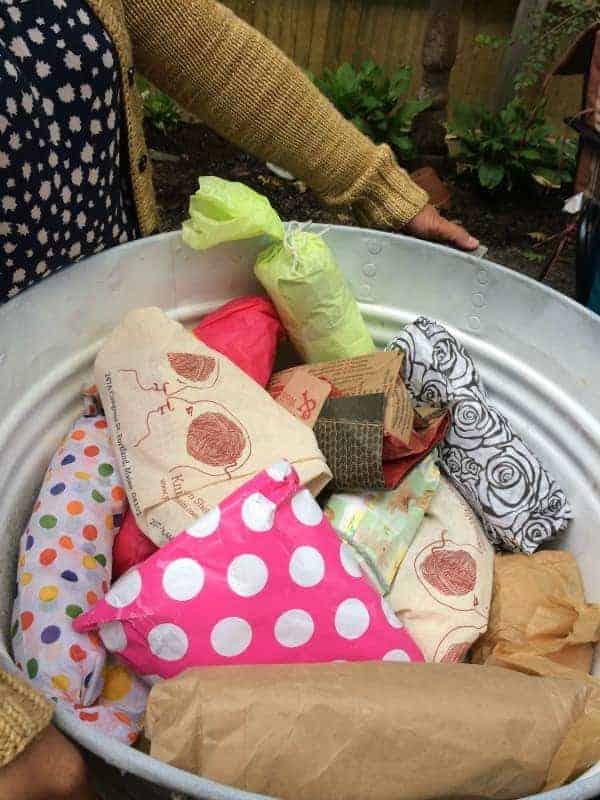 After yarn shopping... more yarn!