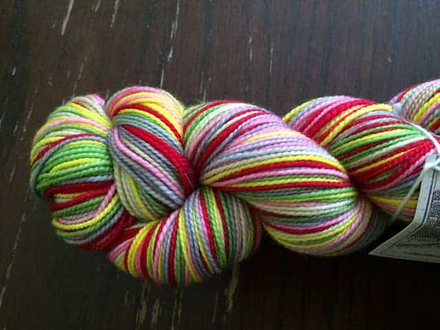 """""""Me and Julio Down By the School Yard."""" The Royal Tenenbaums-themed yarn from Canon Hand Dyes."""