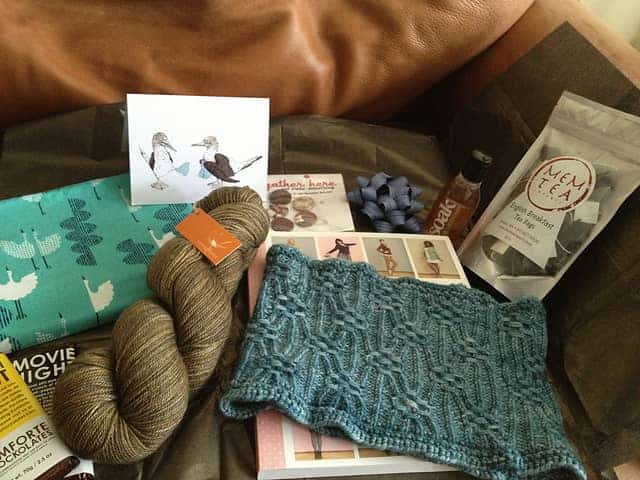 The haul from one of my recent Ravelry swaps.