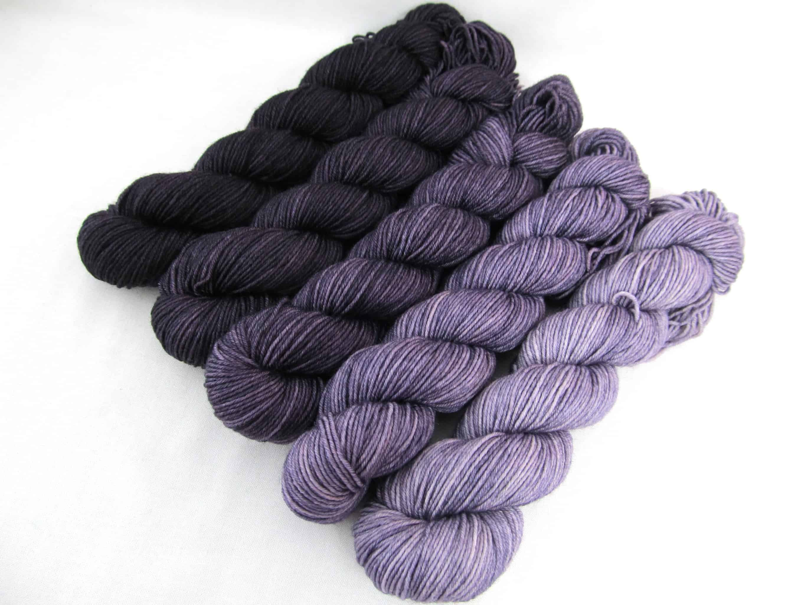 Hand Dyed Speckled Variegated Hand Painted Yarn Muddy Waters- 100 Cotton