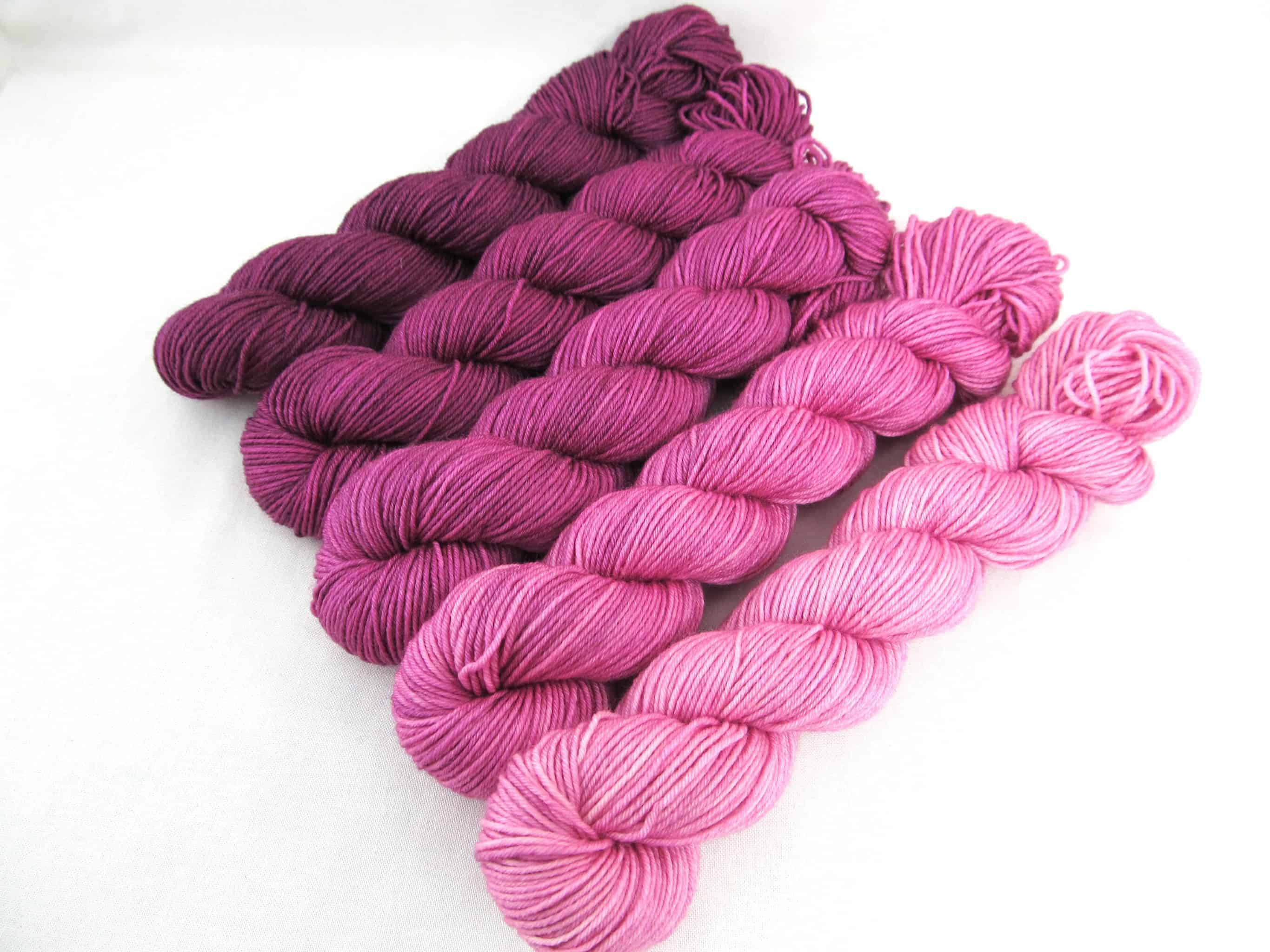 Pink gradient by Black Trillium Fibres