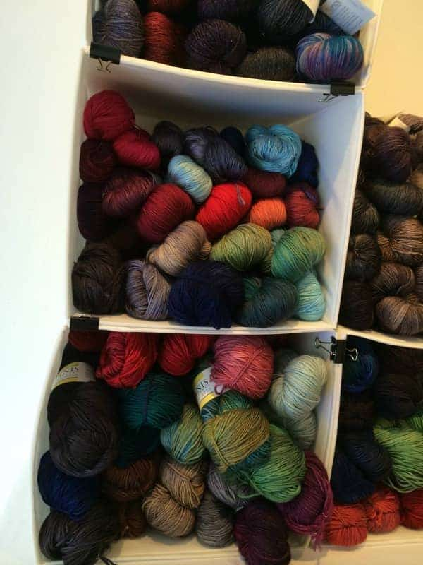 Beautiful skeins from Tanis Fiber Arts.