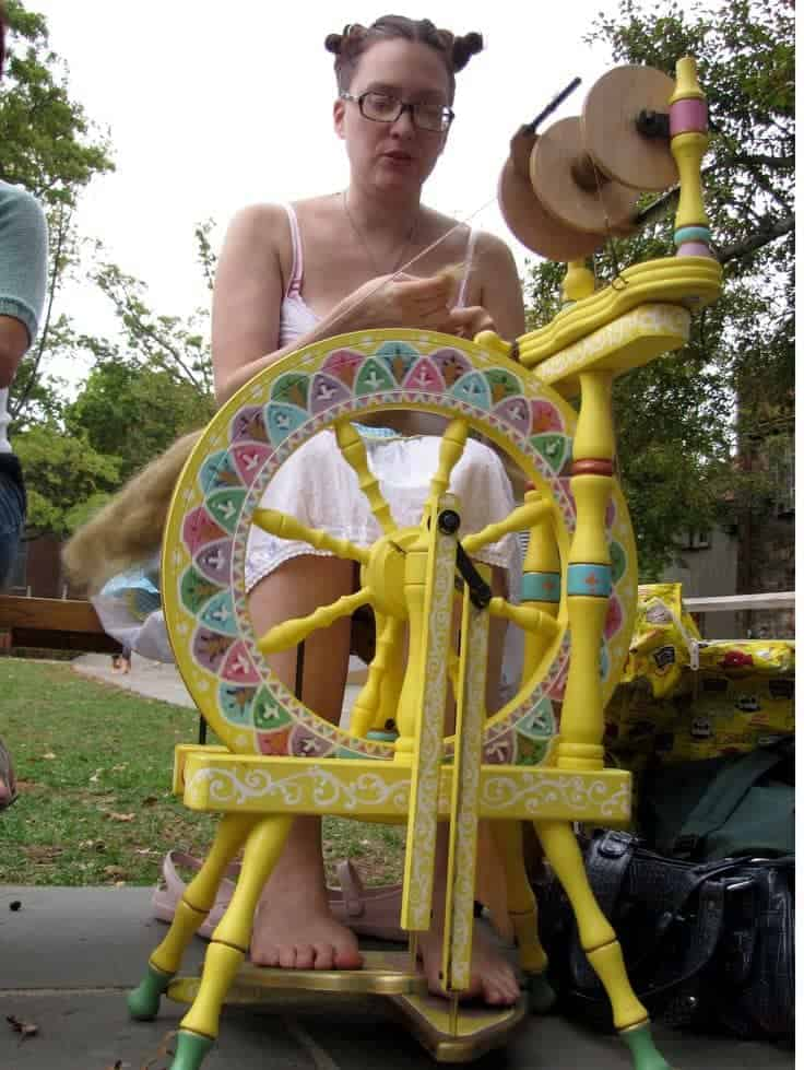 A custom wheel at the festival. Photo via Stitch Therapy.