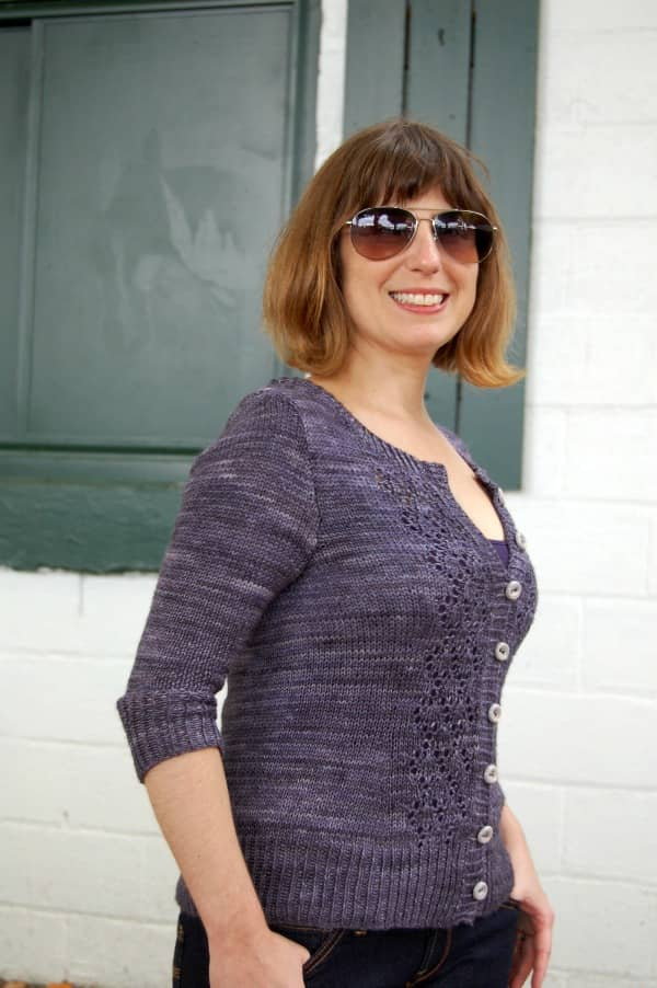 And I did a fashion shoot for my Rhinebeck sweater.