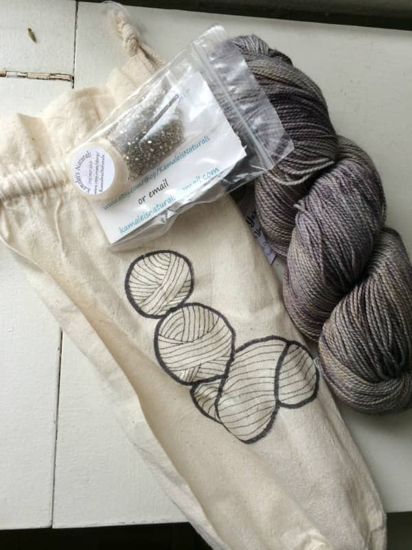 An Indulgence Kit, complete with beads, from Inner Yarn Zen.