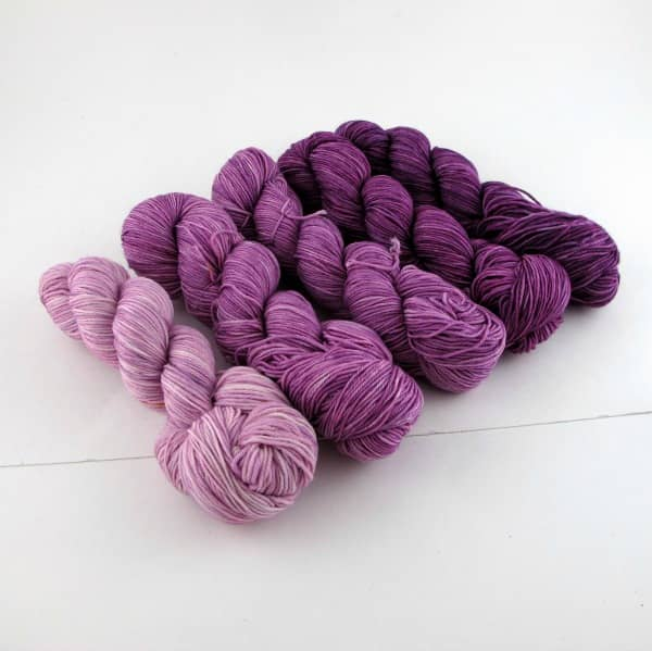 Purple gradient from Three Fates Yarns
