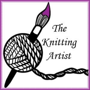 A hand-painted greeting card from The Knitting Artist
