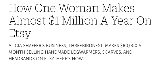 12fcd6e85e The myth of Three Bird Nest and making $1M/year on Etsy