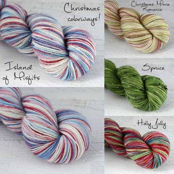 Christmas colorways from Never Enough Thyme