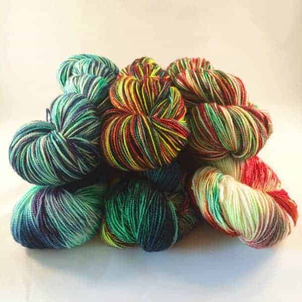 Holiday yarn from With Pointed Sticks