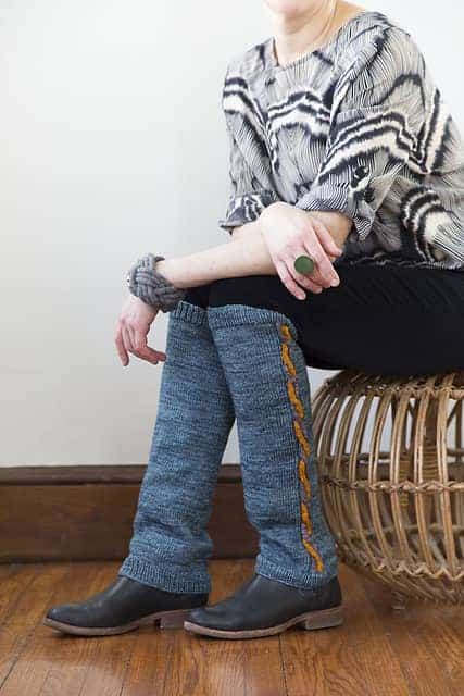 © Lark Crafts / Touch of Color Legwarmers by Susie Dippel