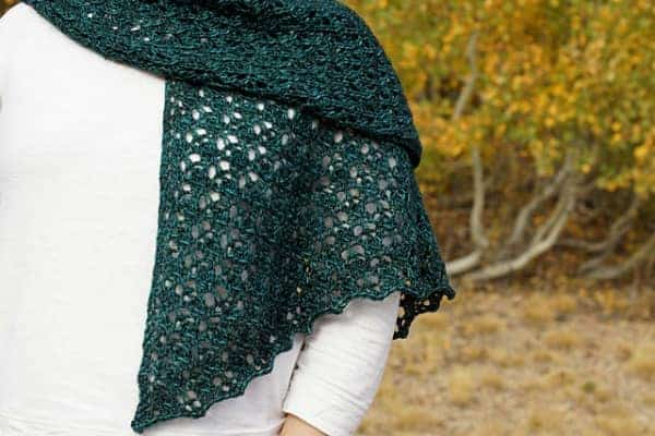 Erica/ejsufka's Leaflette, knit with Hazel Knits Cadence