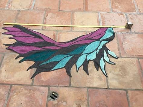 Marla/marlala's Phoenix-Wing/Phoenix-Flügel in Invictus Yarns Unafraid