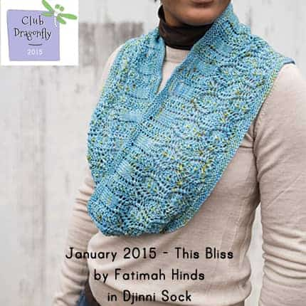 Light blue lacy cowl