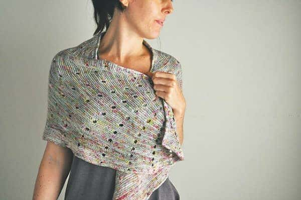 Kristen/k10's Dotted Rays in Skein Merino Cashmere Fingering, colorway Neon and Grey