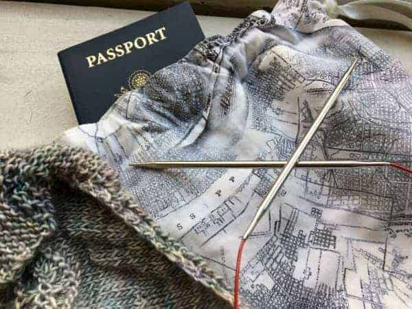 Travel knitting
