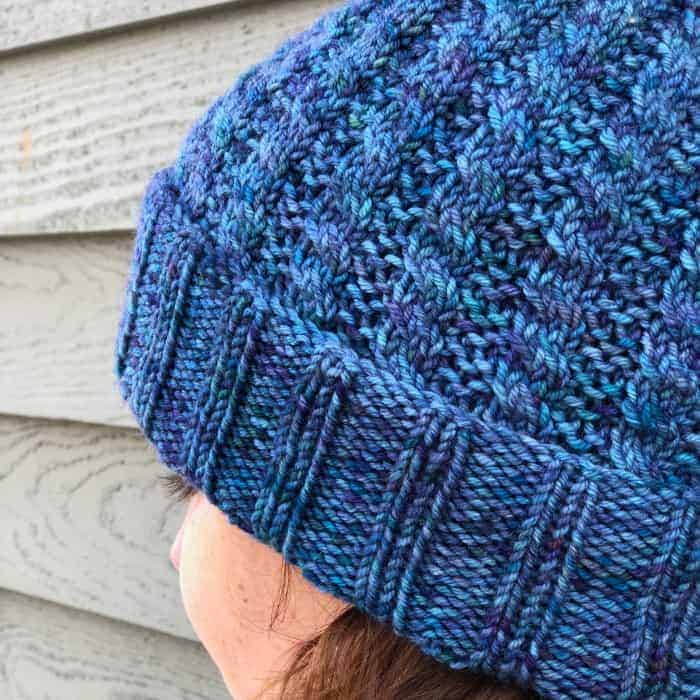 """167ff95fbc1 Téamh is Irish Gaelic for """"warmth"""" and it s the perfect name for Jennifer s  new hat design. The sample above was knit using Spirit Trail Fiberworks Luna"""