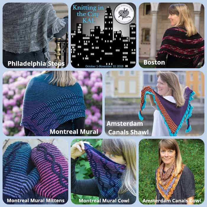 eda786dff2e Heather Anderson s Knitting in the City KAL kicks off October 1 and  includes seven city-themed patterns  four shawls