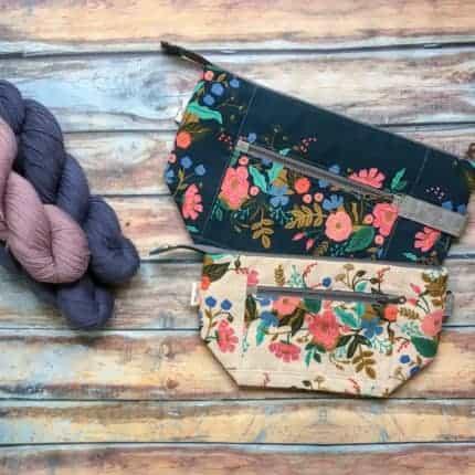 Floral zipper bags