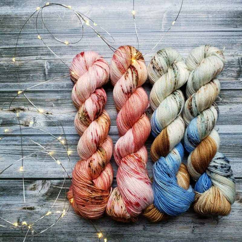Into the Woods Wildflower Mini Skein Kit ~ Block Printed Super Soft Cotton Fabric Yarn ~ Perfect for Warm Weather Knitting and Crafting