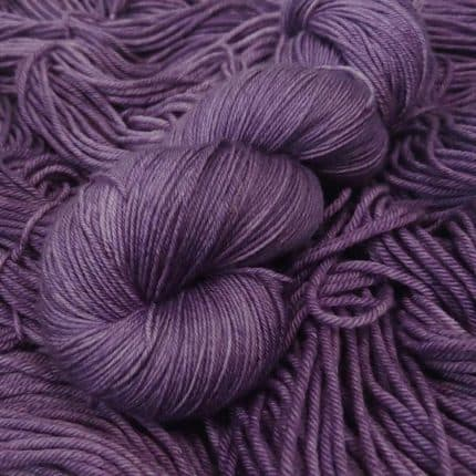 A skein of purple yarn.