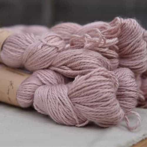 Light pink yarn.