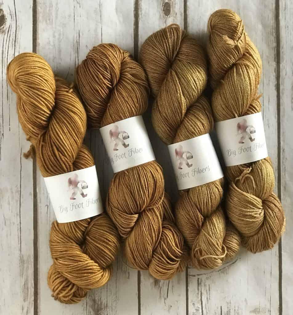 Ambler colored skeins of yarn.