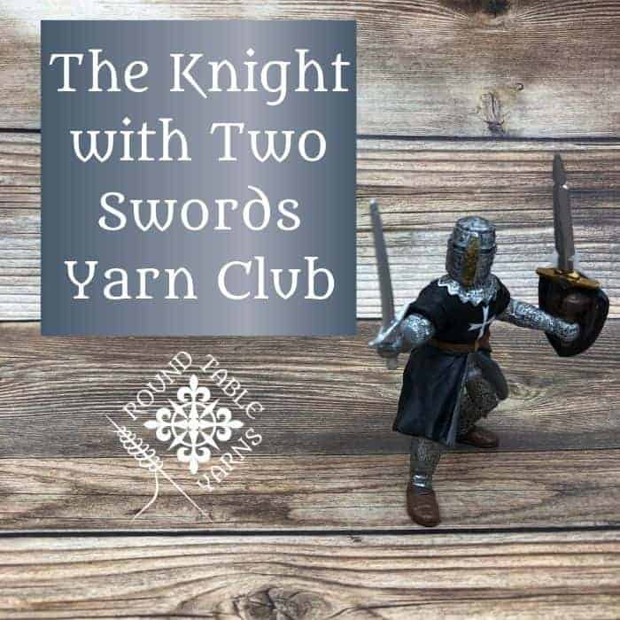 A toy knight figure stands on wood.