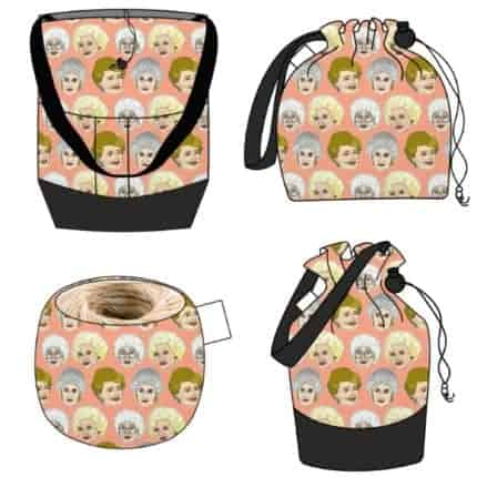Bags with orange Golden Girls fabric