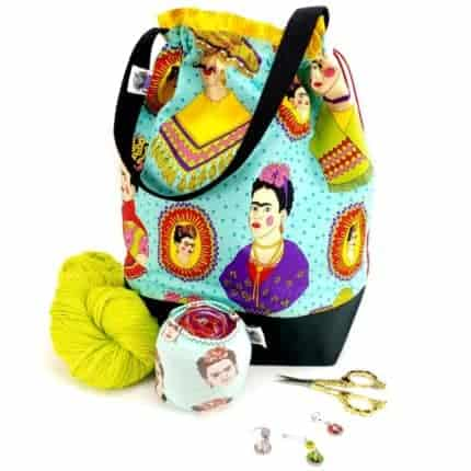 Bag with Frida Kahlo fabric