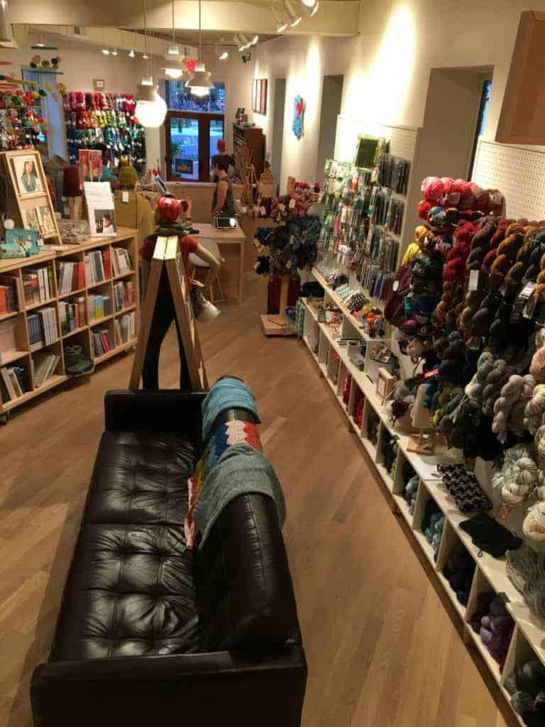 Interior of a yarn shop