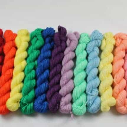 Rainbow mini skeins
