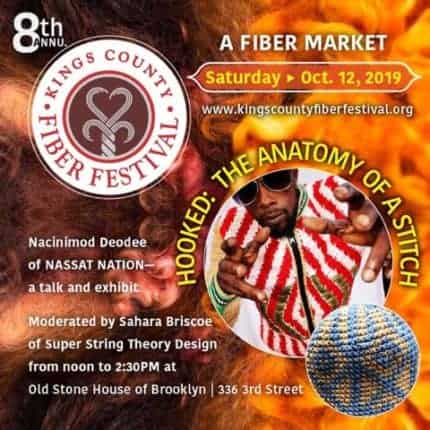 Advertisement for the 8th annual Kings County Fiber Festival on October 12, 2019.