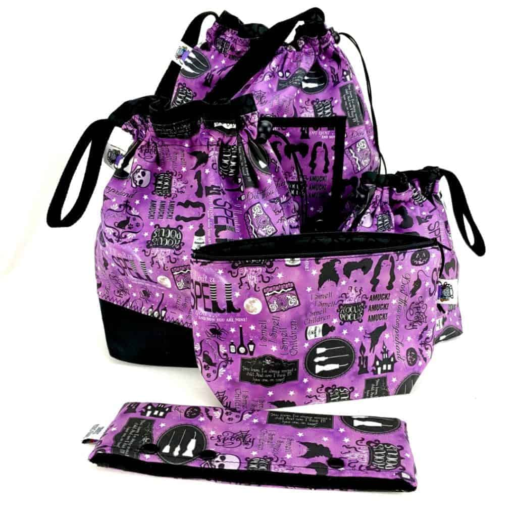 Purple bags