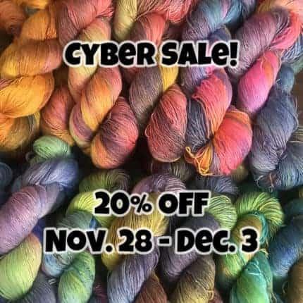 Bright yarn with Cyber Sale.