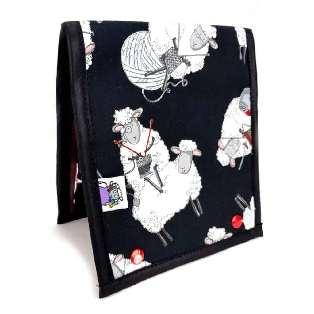 A pattern wallet with cartoon sheep.