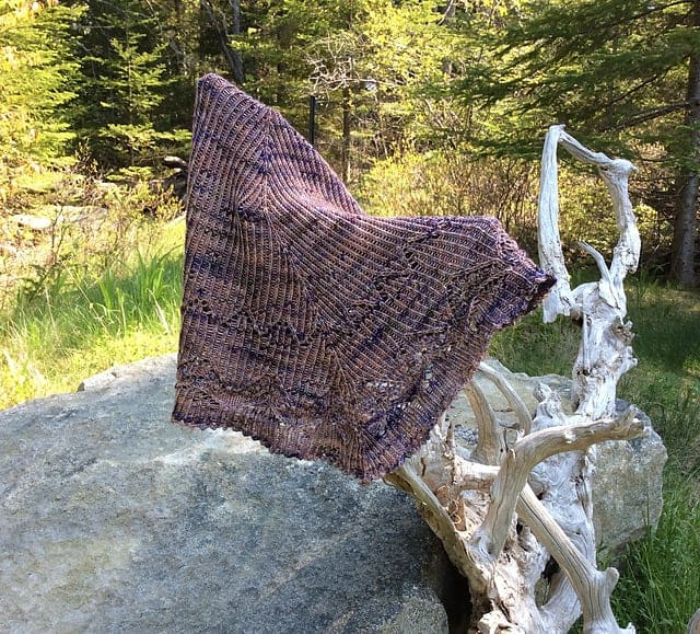 A purple shawl.