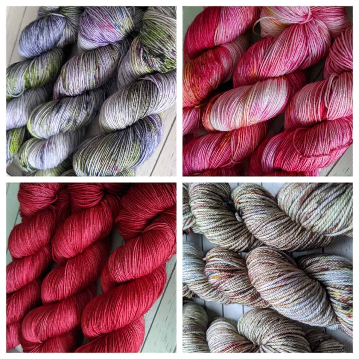 A collage of yarn.