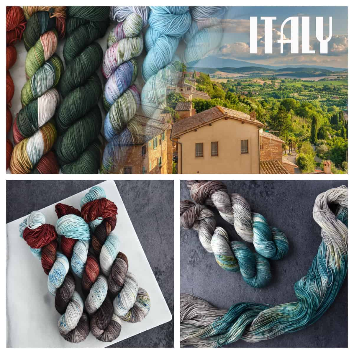 Yarn collage from Destination Yarn