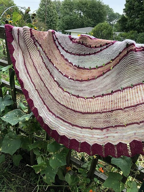 A multicolored shawl.