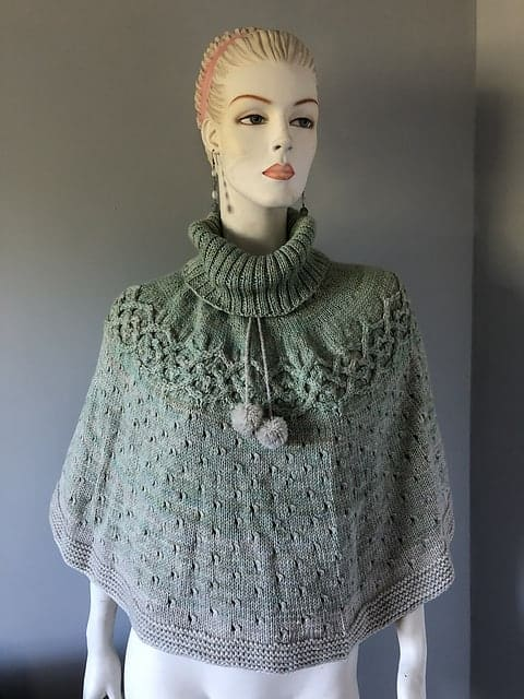 A green lacy poncho.