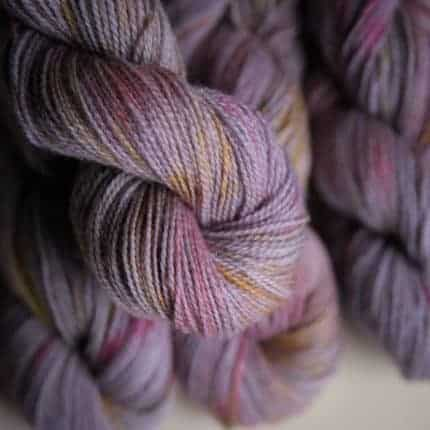 Purple yarn.