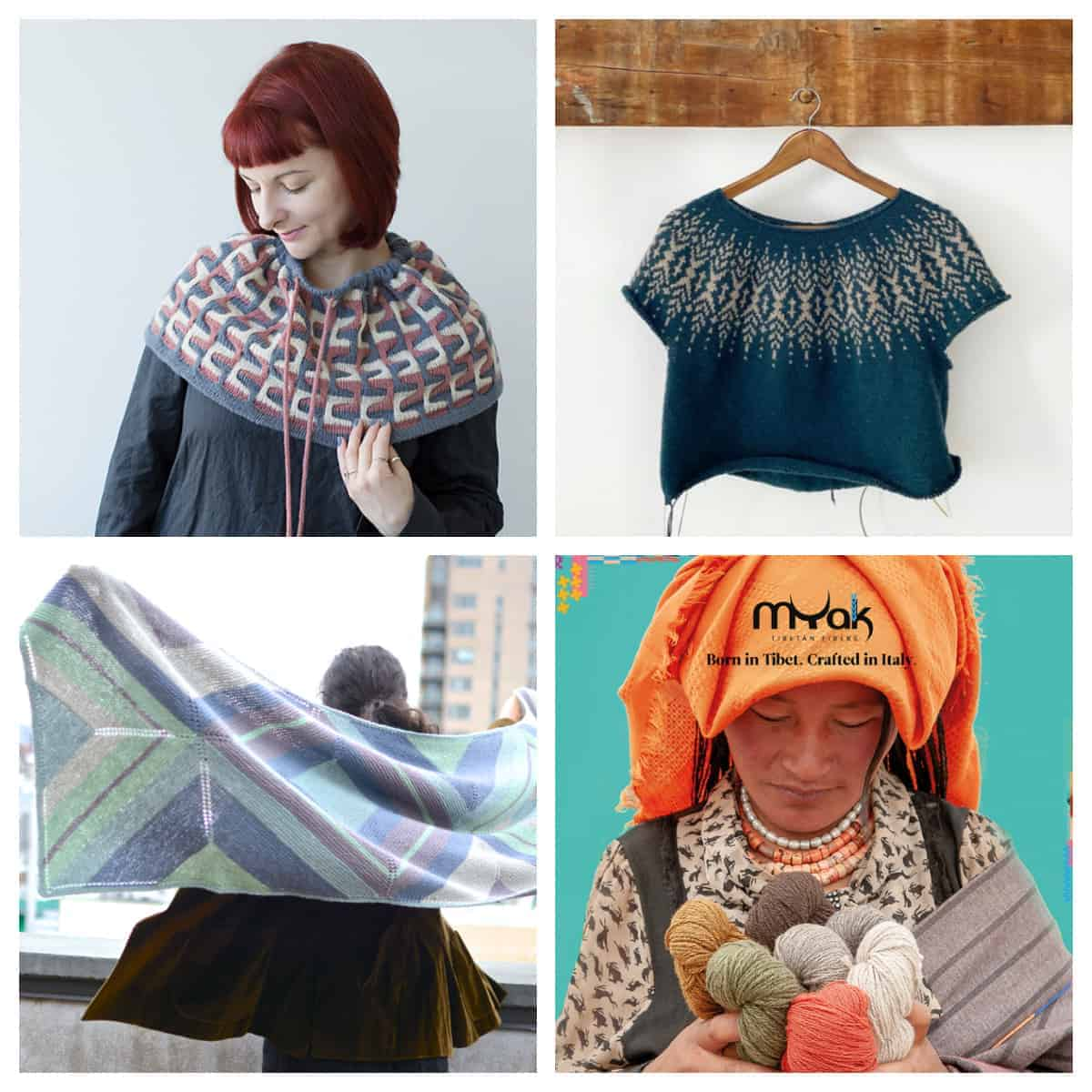A selection of knitting patterns