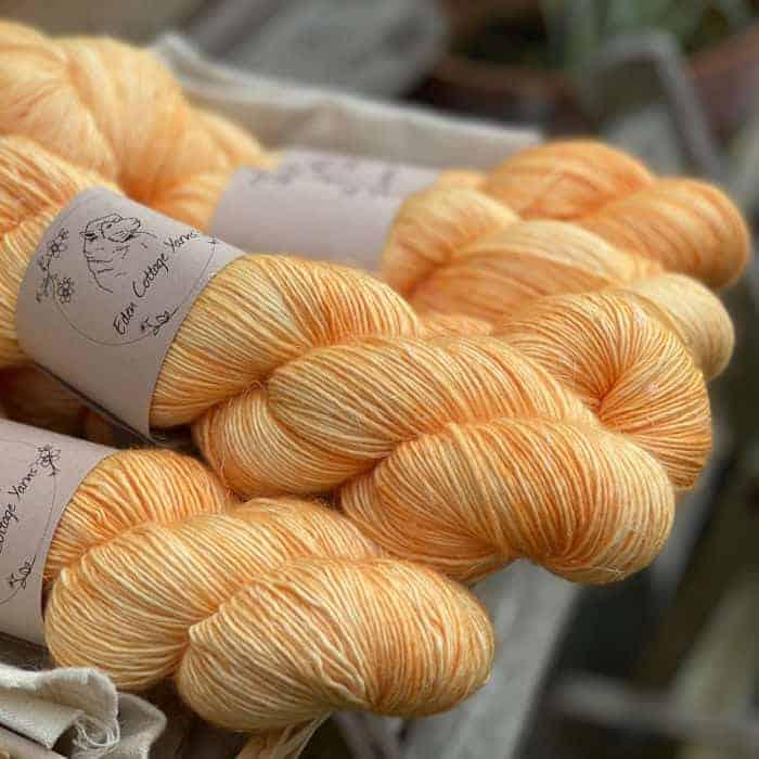 Peach yarn.