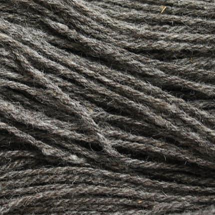 A closeup of gray rustic yarn.